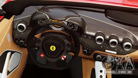Ferrari F12 Roadster para GTA 4 traseira esquerda vista