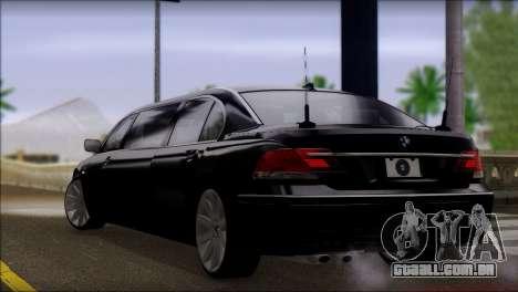 BMW E66 7-Series Limousine para GTA San Andreas esquerda vista