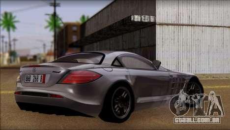 Mercedes-Benz SLR 722 para GTA San Andreas esquerda vista