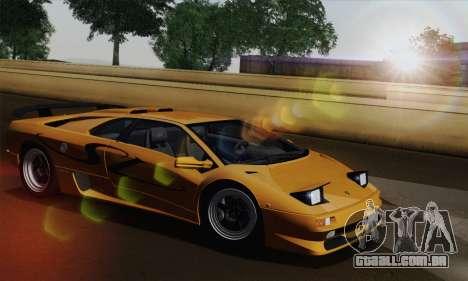 Lamborghini Diablo SV 1995 (HQLM) para GTA San Andreas vista direita