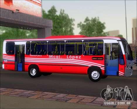 Neobus Spectrum Linea 38 Mcal. Lopez para GTA San Andreas vista traseira