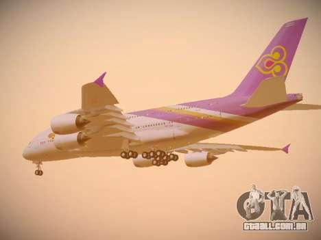 Airbus A380-800 Thai Airways International para GTA San Andreas vista traseira