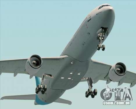 Airbus A330-300 Air Inter para GTA San Andreas vista traseira