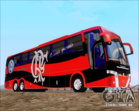 Busscar Elegance 360 C.R.F Flamengo para GTA San Andreas vista interior