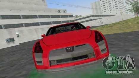 Nissan GT-R Prototype para GTA Vice City vista traseira esquerda