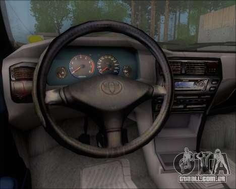 Toyota Corolla 1.6 para GTA San Andreas vista interior