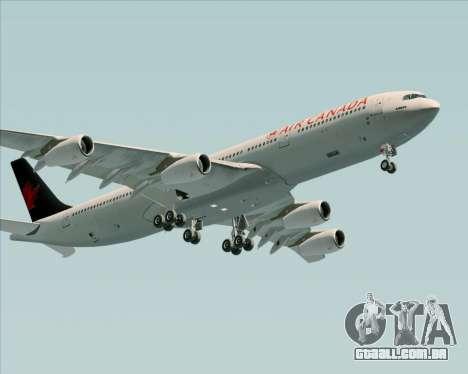 Airbus A340-313 Air Canada para GTA San Andreas vista traseira