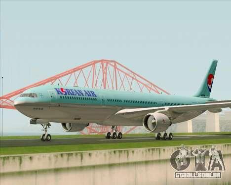 Airbus A330-300 Korean Air para GTA San Andreas esquerda vista