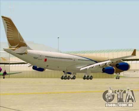 Airbus A340-313 Gulf Air para GTA San Andreas vista traseira