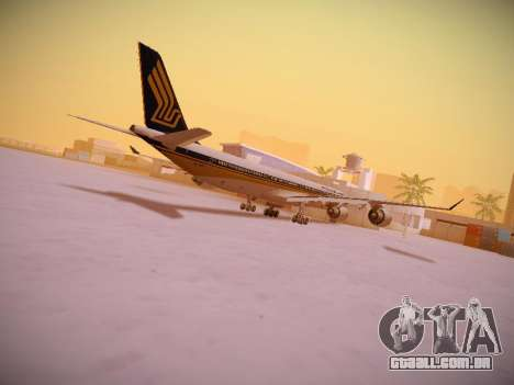 Airbus A340-600 Singapore Airlines para GTA San Andreas interior