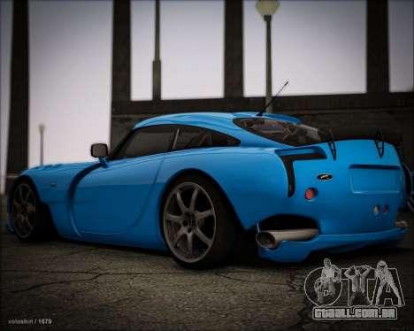 TVR Sagaris 2005 para GTA San Andreas traseira esquerda vista