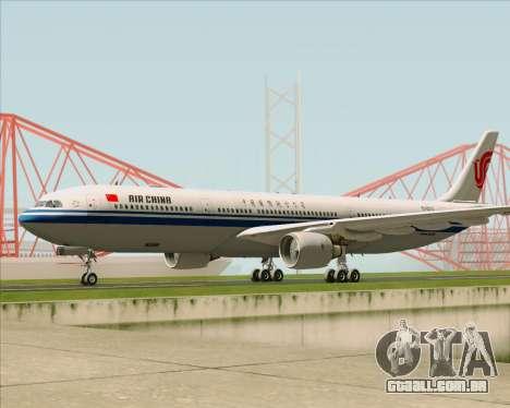 Airbus A330-300 Air China para GTA San Andreas esquerda vista