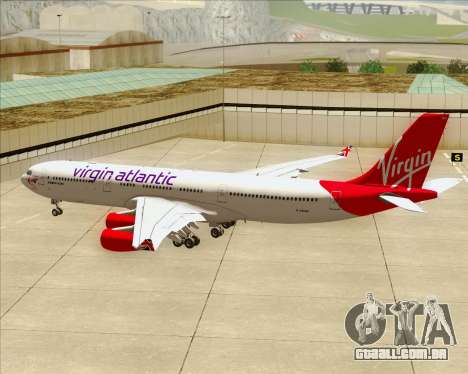 Airbus A340-313 Virgin Atlantic Airways para as rodas de GTA San Andreas