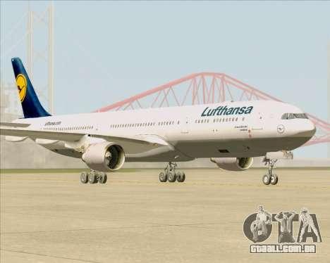 Airbus A330-300 Lufthansa para GTA San Andreas traseira esquerda vista