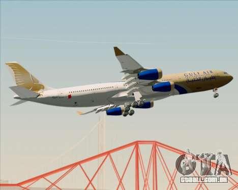 Airbus A340-313 Gulf Air para vista lateral GTA San Andreas