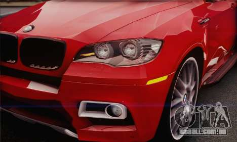 BMW X6M 2013 v3.0 para GTA San Andreas vista traseira
