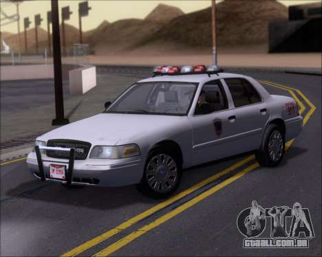Ford Crown Victoria Tallmadge Battalion Chief 2 para GTA San Andreas esquerda vista