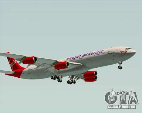 Airbus A340-313 Virgin Atlantic Airways para GTA San Andreas esquerda vista