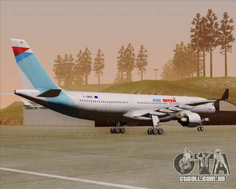 Airbus A330-300 Air Inter para GTA San Andreas vista direita