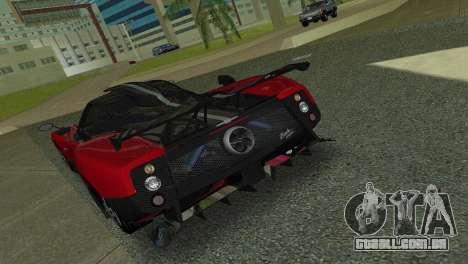 Pagani Zonda Cinque para GTA Vice City vista direita