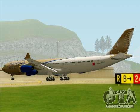 Airbus A340-313 Gulf Air para GTA San Andreas vista direita