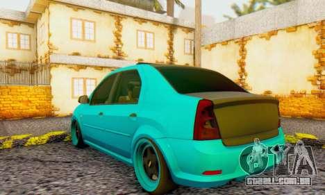 Dacia Logan Pearl Blue para GTA San Andreas vista direita