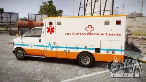 GTA V Brute Ambulance [ELS] para GTA 4 esquerda vista