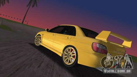 Subaru Impreza WRX 2002 Type 1 para GTA Vice City deixou vista