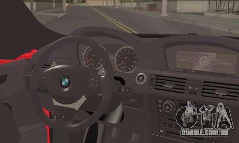 BMW X6M 2013 v3.0 para GTA San Andreas traseira esquerda vista