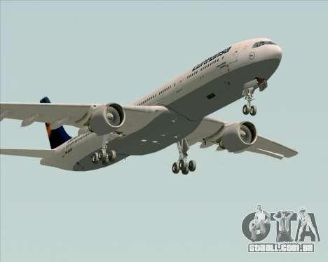 Airbus A330-300 Lufthansa para vista lateral GTA San Andreas