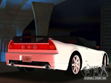Honda NSX-R para GTA Vice City vista traseira