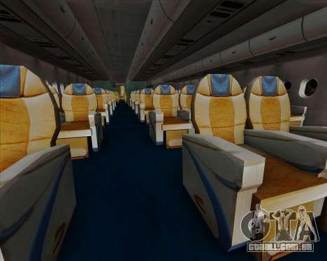 Airbus A380-841 China Southern Airlines para as rodas de GTA San Andreas