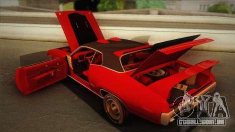 Plymouth GTX Tuned 1972 v2.3 para vista lateral GTA San Andreas