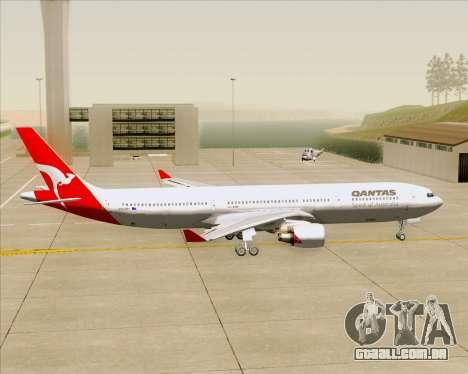 Airbus A330-300 Qantas para GTA San Andreas vista traseira