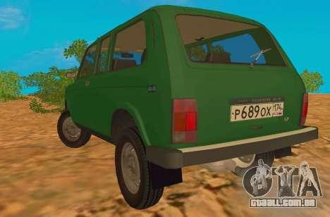VAZ-2129 Niva 4x4 para GTA San Andreas traseira esquerda vista