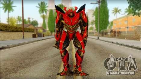 Dino Mirage (transformers Dark of the moon) v1 para GTA San Andreas