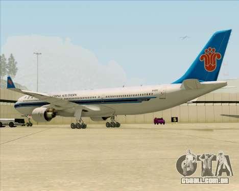 Airbus A330-300 China Southern Airlines para GTA San Andreas vista traseira