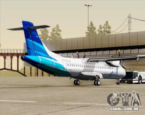 ATR 72-500 Garuda Indonesia Explore para GTA San Andreas traseira esquerda vista