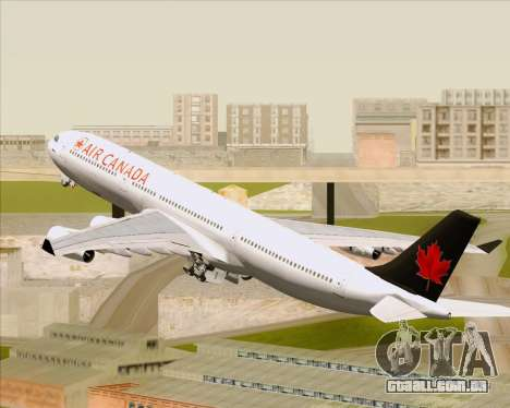 Airbus A340-313 Air Canada para as rodas de GTA San Andreas