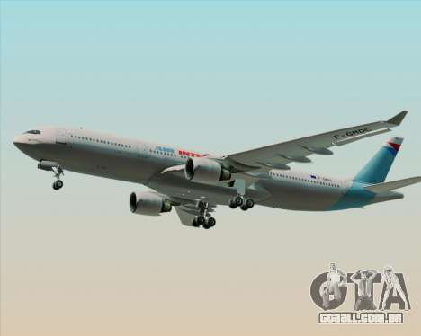 Airbus A330-300 Air Inter para GTA San Andreas vista interior