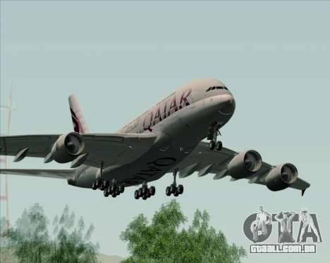 Airbus A380-861 Qatar Airways para GTA San Andreas vista direita