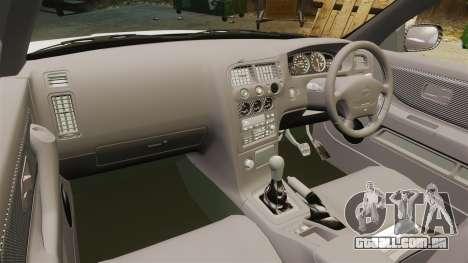 Nissan Skyline R33 1995 Infinite Stratos para GTA 4 vista de volta
