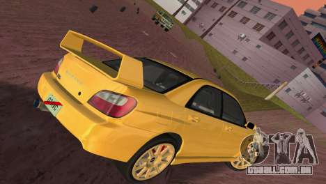 Subaru Impreza WRX 2002 Type 1 para GTA Vice City vista interior
