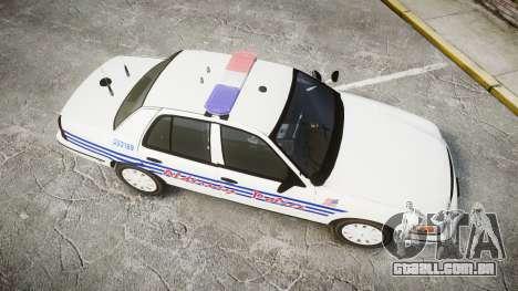 Ford Crown Victoria Alderney Police [ELS] para GTA 4 vista direita