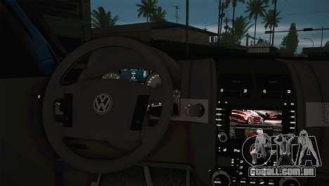 Volkswagen Touareg 2012 para GTA San Andreas traseira esquerda vista