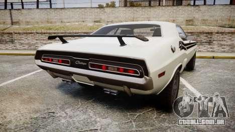 Dodge Challenger 1971 v2.2 PJ1 para GTA 4 traseira esquerda vista
