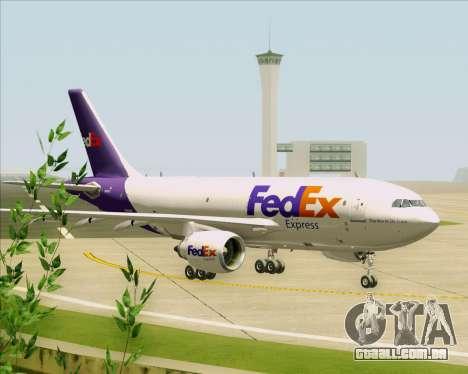Airbus A310-300 Federal Express para GTA San Andreas vista traseira
