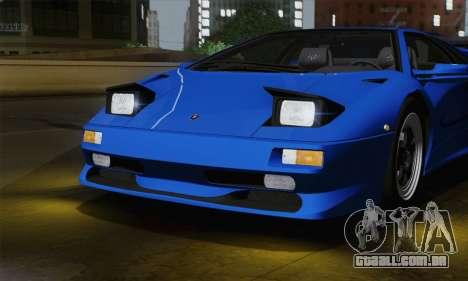 Lamborghini Diablo SV 1995 (ImVehFT) para GTA San Andreas vista interior