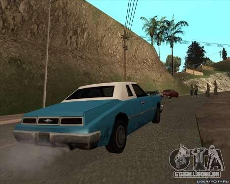 Idaho para GTA San Andreas traseira esquerda vista