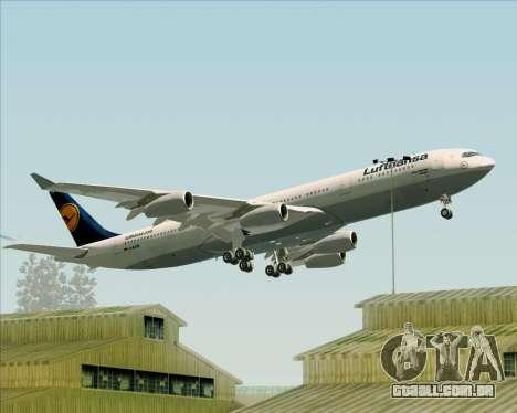 Airbus A340-313 Lufthansa para as rodas de GTA San Andreas